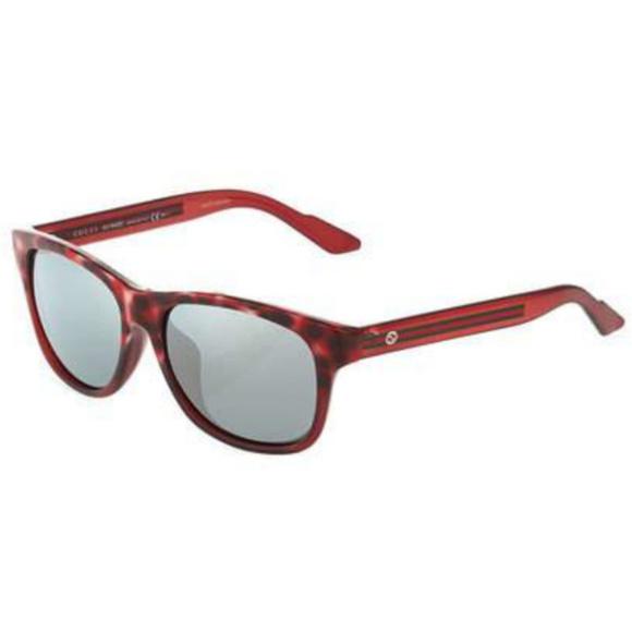 3462a3849a Gucci Red Tortoise Square Sunglasses